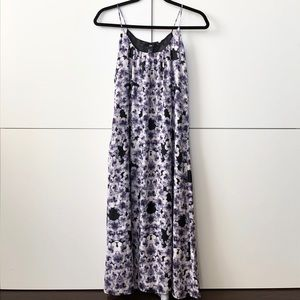 Lavender floral maxi dress